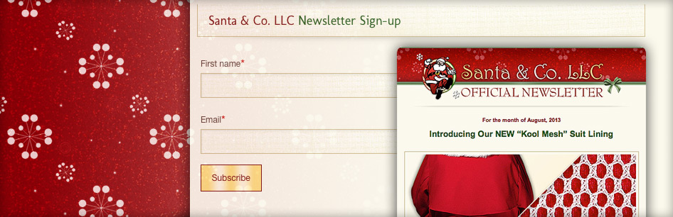 Subscribe to the Santa & Co. newsletter for all the latest news, promotions, and events...