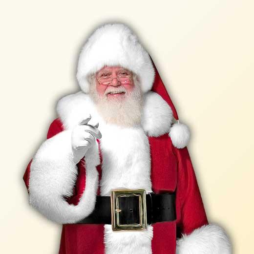 (C) Classic Professional Santa Claus Suit Arctic Fox