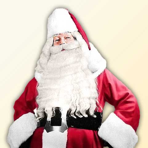 C.W. Howard in his Original Style Santa Claus Suit