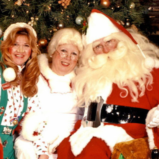 Santa Sam with Mrs. Claus and helpers
