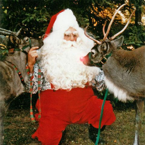 Santa Sam and his reindeer