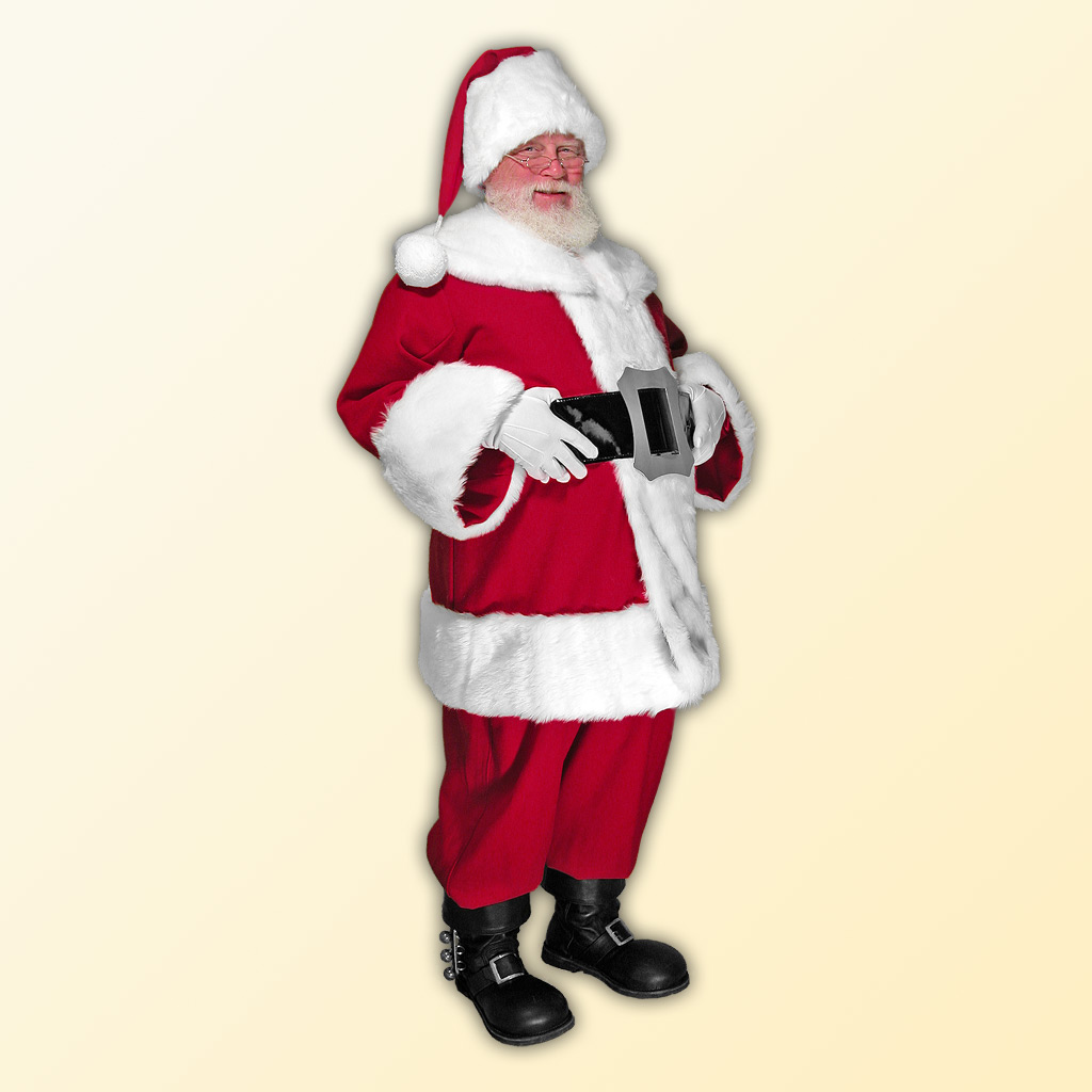 (B) New Classic Professional Santa Claus Suit