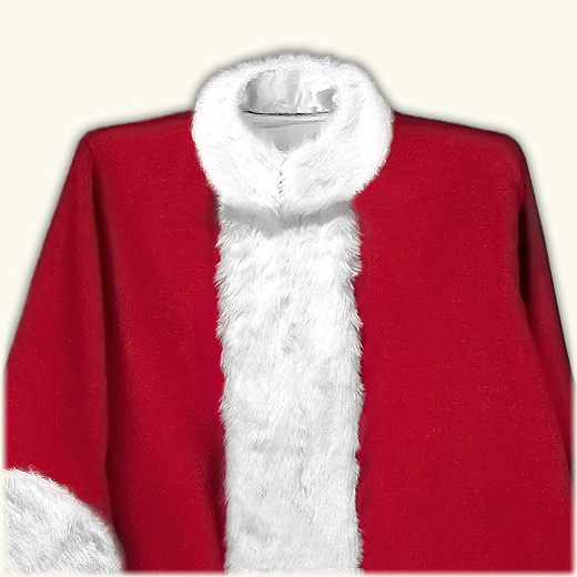 (B) New Classic Professional Santa Claus Suit w/2