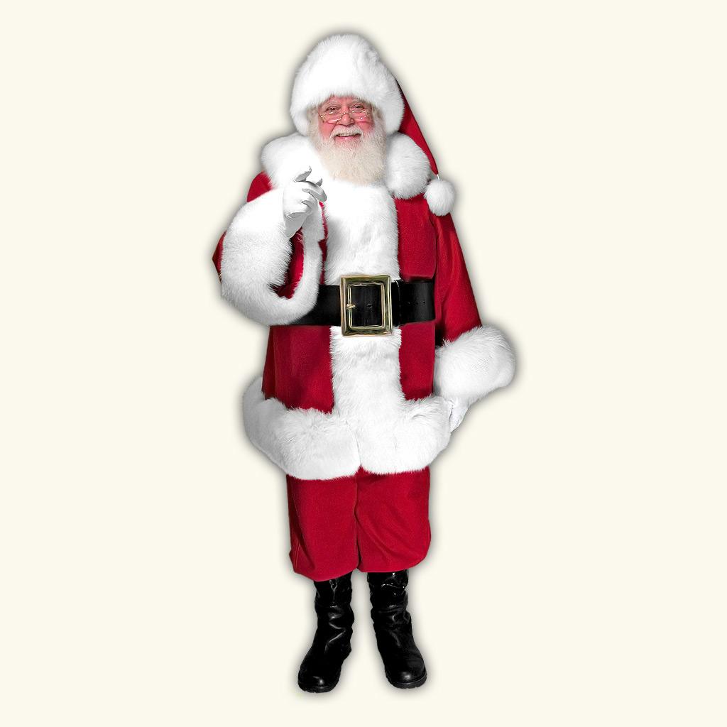 (C) Classic Professional Santa Claus Suit w/Arctic Fox Trim