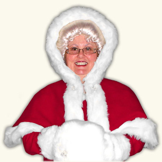 Mrs. Claus Cape w/Hood
