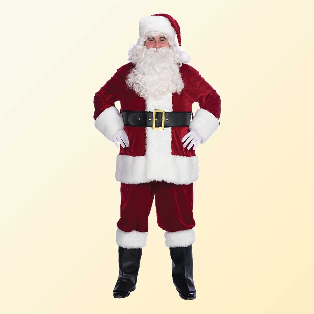 (Halco) Velveteen Santa Claus Costume - 6591