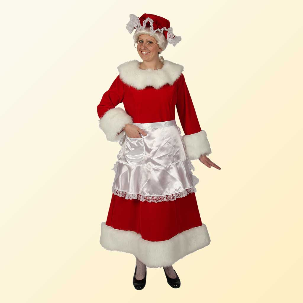 (Halco) Regal Red Velvet Mrs. Claus Costume - 7551
