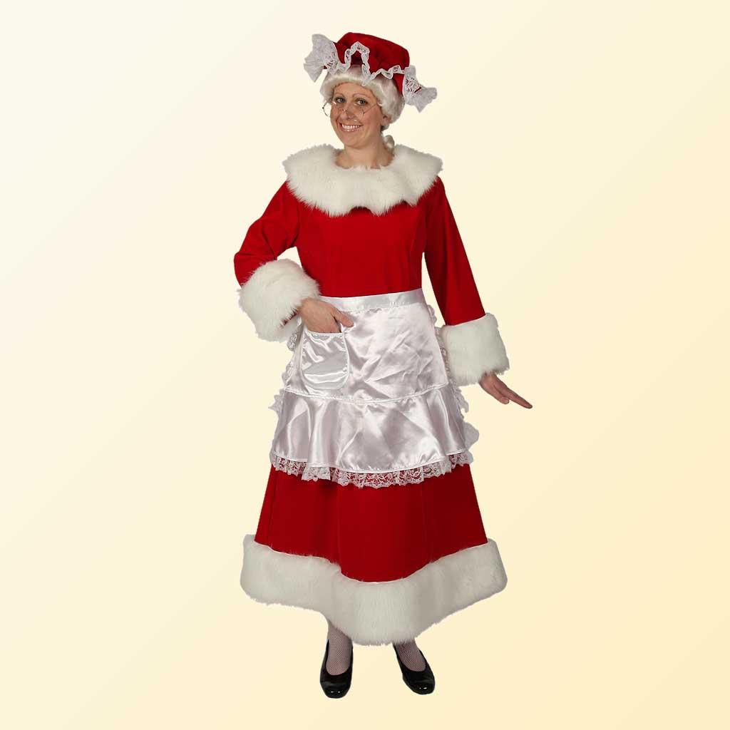 (Halco) Regal Red Velvet Mrs. Claus Costume - 7551
