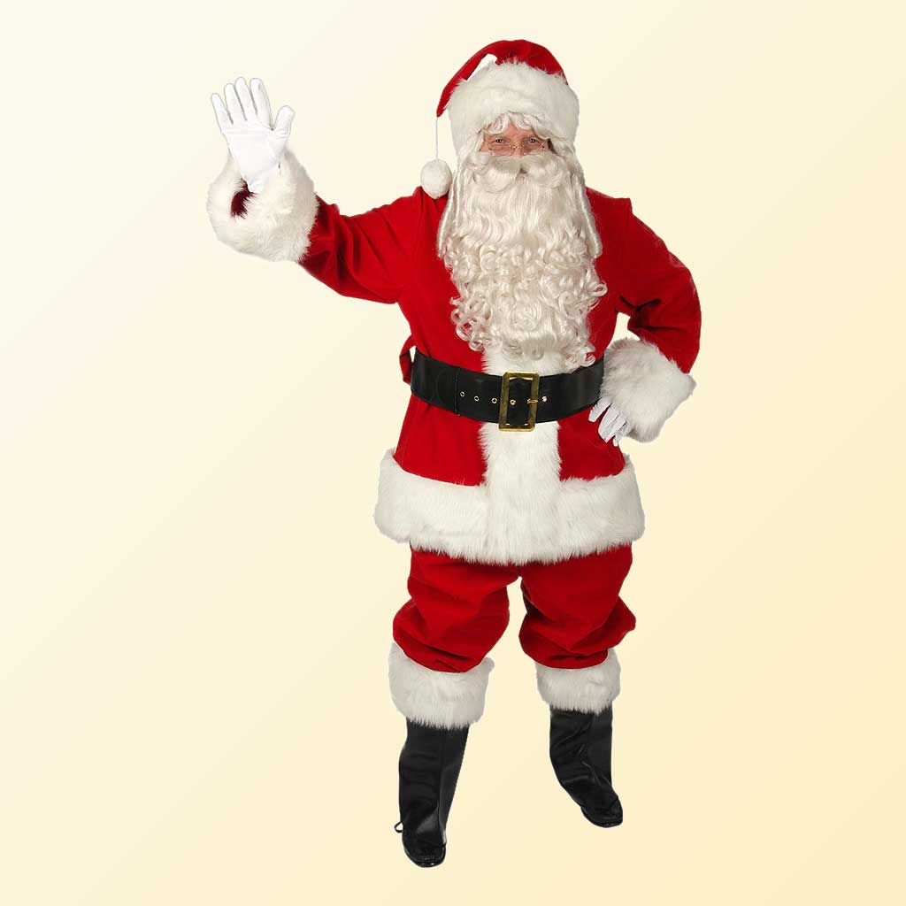 (Halco) Regal Red Velvet Santa Claus Costume - 7591