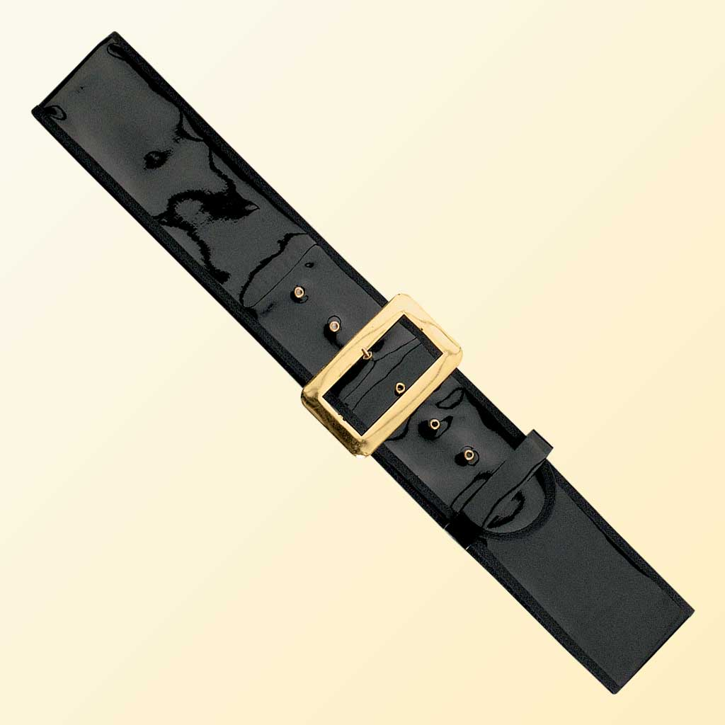 (Halco) Patent Leather Santa Claus Belt - 9939