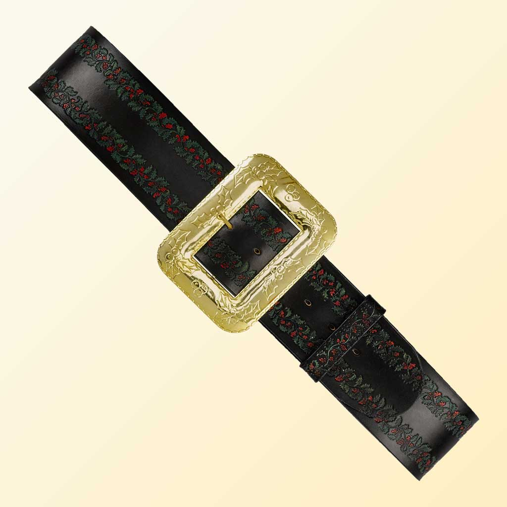 (Halco) Embossed Leather Santa Claus Belt - 9969