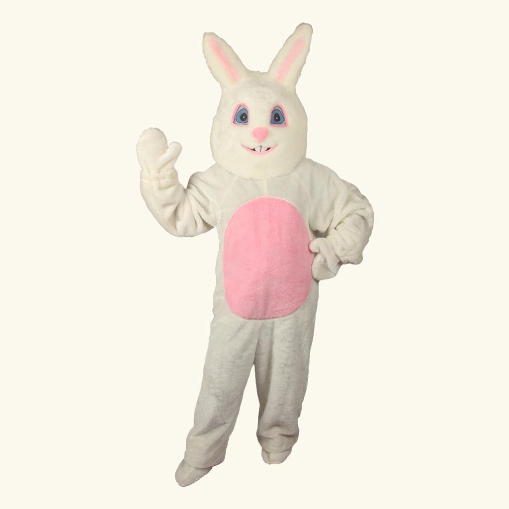 (Halco) White Bunny Costume w/Mascot Head - 1092-H
