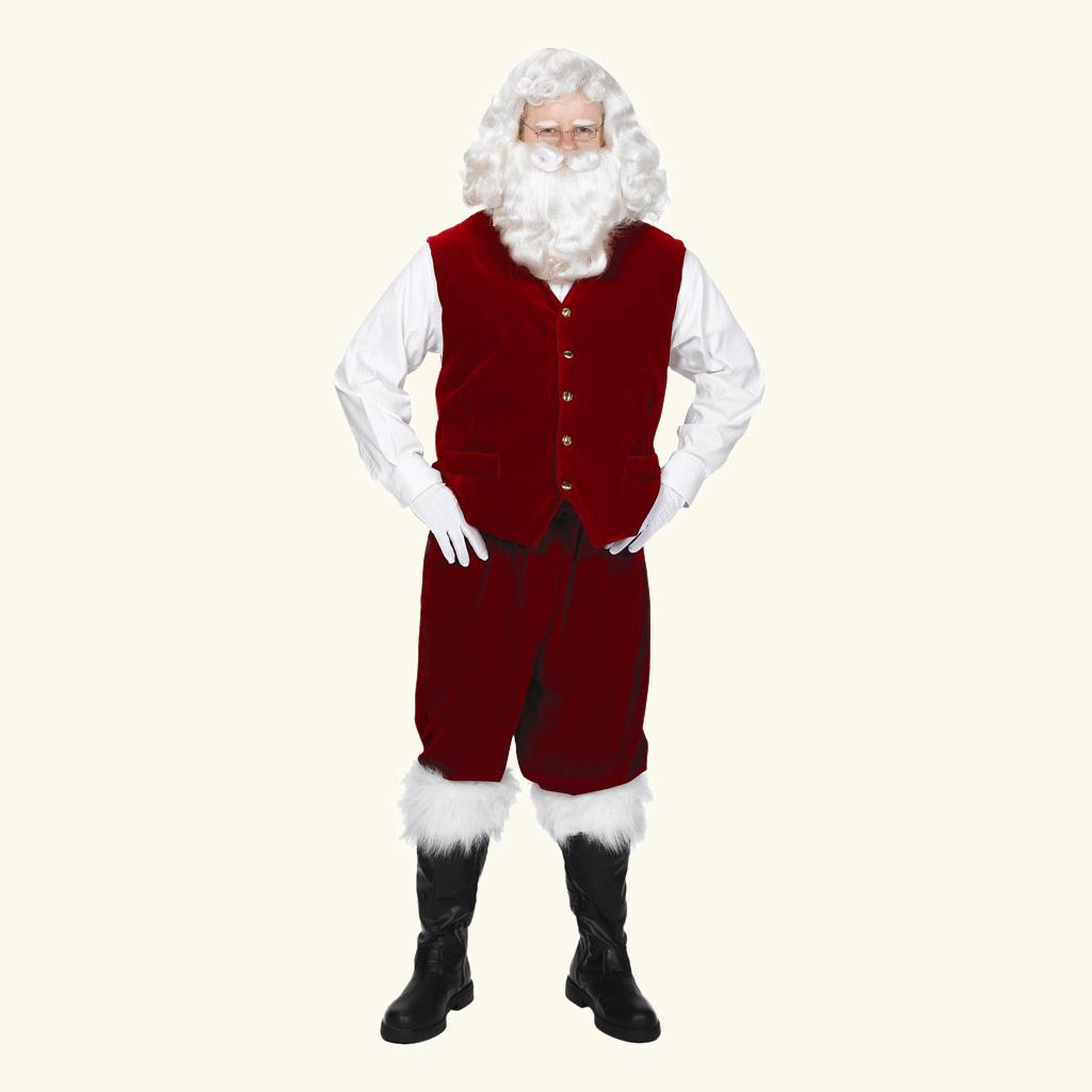 (Halco) Santa Claus Velvet Vest w/Buttons - 7077