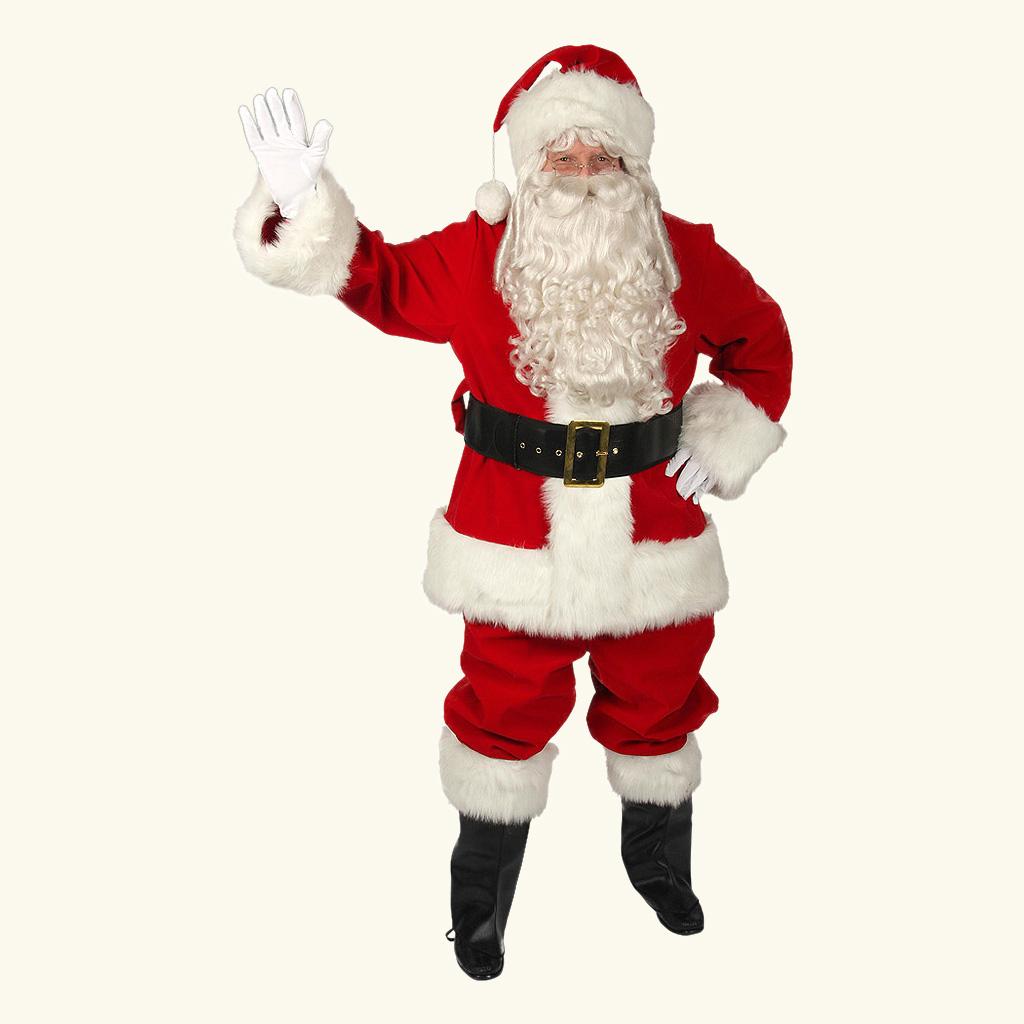 (Halco) Regal Red Velvet Santa Claus Costume - 7591
