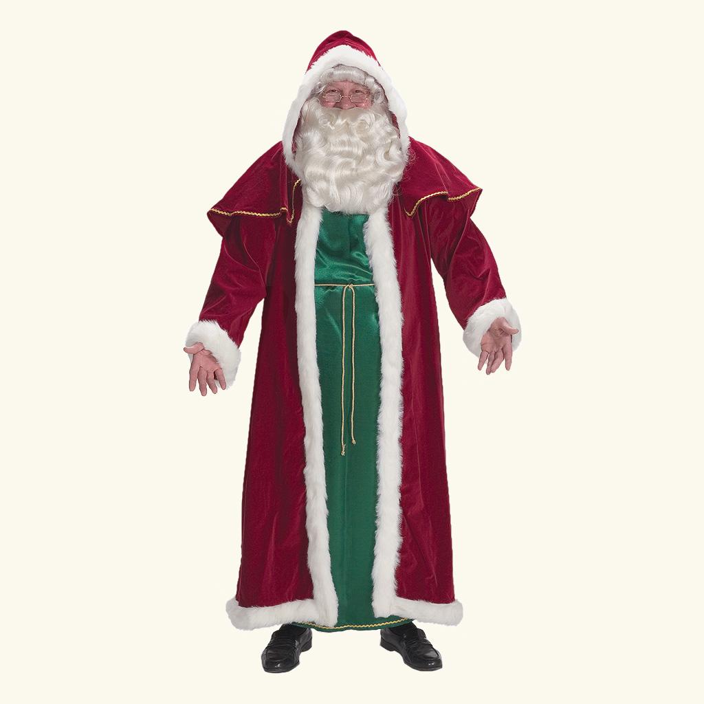 (Halco) Victorian Santa Claus Cape & Tunic - 7755