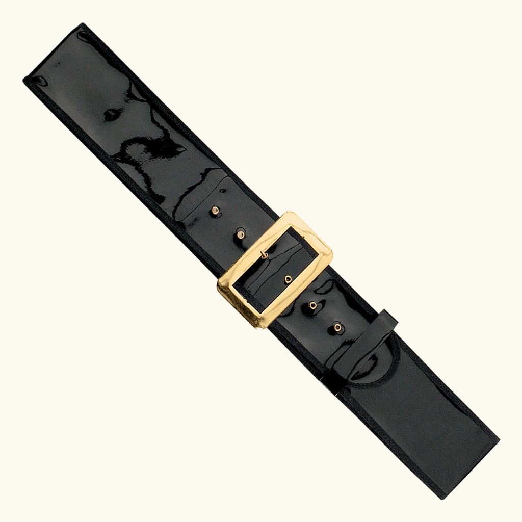 (Halco) Patent Leather Santa Claus Belt - 9939