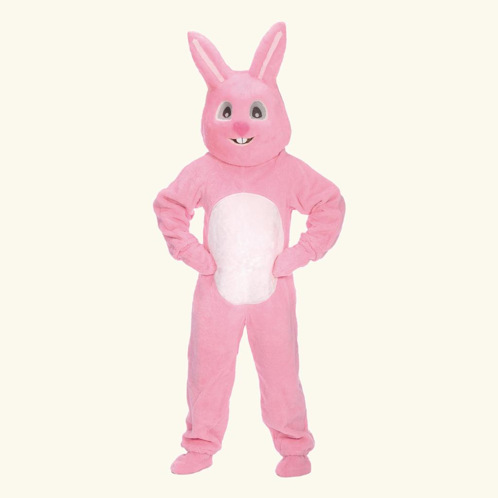 (Halco) Pink Bunny Costume w/Mascot Head