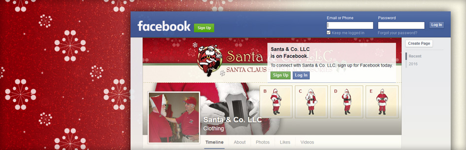Santa & Co. LLC is now on Facebook!