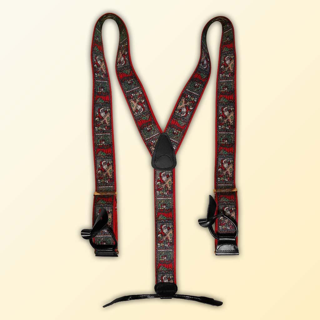 Designer Santa Claus Suspenders