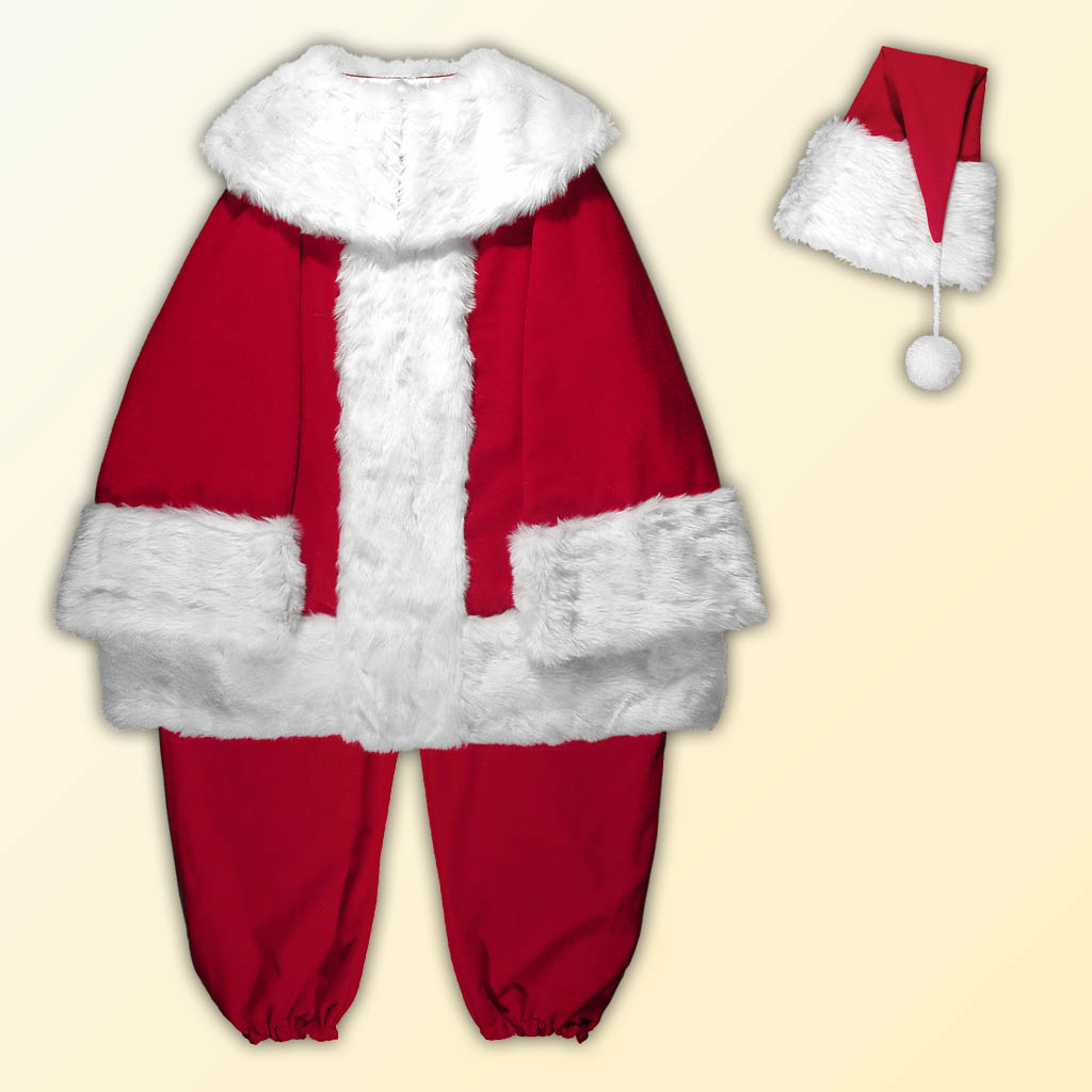 (B) New Classic Professional Santa Claus Separates