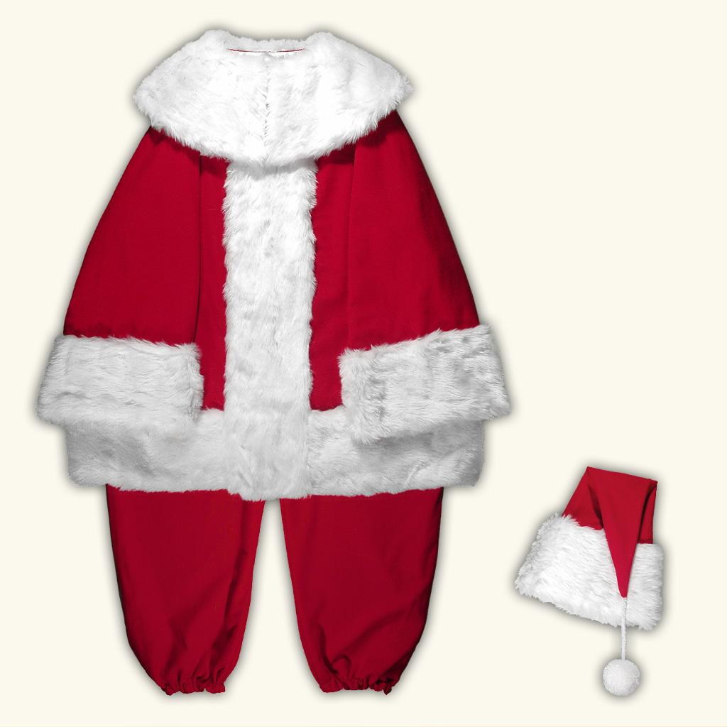 (B) New Classic Professional Santa Claus Separates